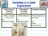 Variables in a Valid Experiment Poster