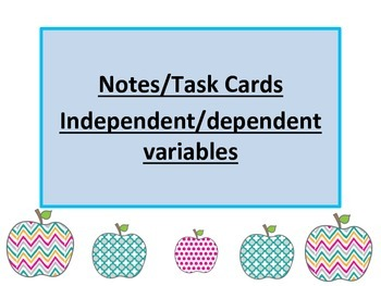 Variables independent and dependent