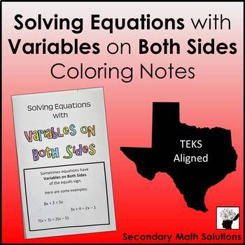 Variables on Both Sides Notes (A5A)