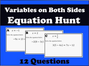 Variables on Both Sides Equation Hunt