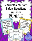 Variables on Both Sides Equations Activity Bundle