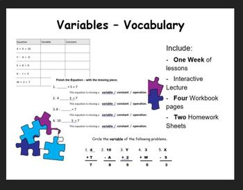 Variables (vocab)
