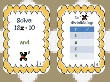 Variables...with a twist! (algebraic expressions)