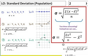 Variance and Standard Deviation including use of calculator Casio fx-570EX/991EX