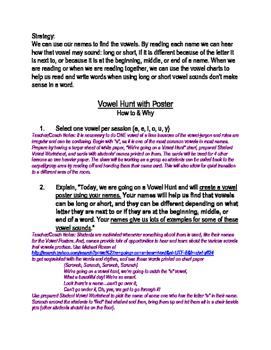 Variant Vowel Hunt