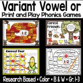 Variant Vowel or Phonics Games