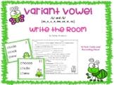 Variant Vowel /ü/ and /ů/ (oo, u, u_e, ew, ue, ui, ou) Write the Room- Bug Theme