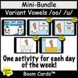 Variant Vowel, w/ Digraphs oo, u  Boom Cards™ Bundle