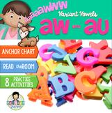 Variant Vowels: aw, au ~Phonics~ Activity Pack