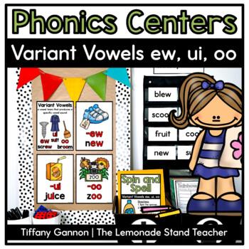 Variant Vowels EW, UI, and OO Word Work Activities
