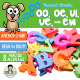 Variant Vowels: oo, oe, ui, ue, ew ~Phonics~ Activity Pack