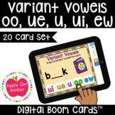 Variant Vowels oo ue ui ew BOOM Cards™   2nd Wonder Unit 5 Week 3 Phonics