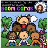 Variant Vowels with Digraphs- oo, u, u_e, ew, ue, ui, & ou BOOM Cards