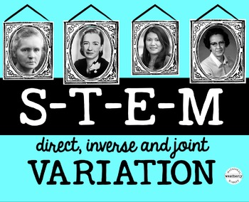 VARIATION - Direct, Inverse and Joint - focus on Women of STEM