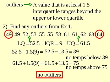 Variation - Range, Interquartile Range and Outliers