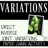 Variations Direct Inverse and Joint Variations Paper Chain