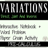 Variations Direct Inverse and Joint Mini-Bundle for PreCalculus