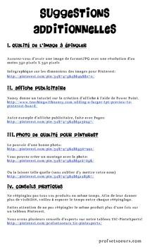 Pinterest & TpT: Varier vos pins