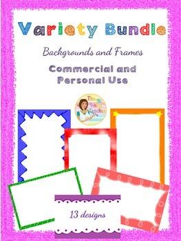 Variety Bundle Backgrounds and Frames