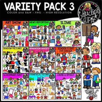 Variety Pack 3 Clip Art Bundle {Educlips Clipart}