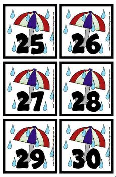 Variety Pack Calendar Pieces - 5 designs - Memory Game - Preschool