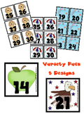 Variety Pack Calendar Pieces - 5 designs - Memory Game - P