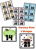 Variety Pack Calendar Pieces - 5 designs - Memory Game - P