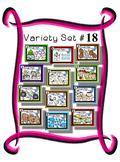 Variety Set #18 - Dough Mats - Themes - Preschool Kindergarten - Fine Motor