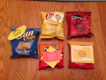 Variety Snack Bag Labels for Student or Staff Appreciation