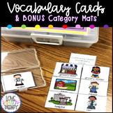 Variety Picture Vocabulary Cards - 190+ Cards & Category Mats