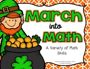 Variety of March Math Centers