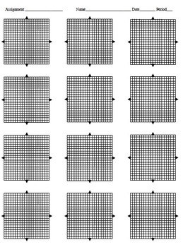Coordinate Planes -Various