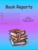 Various Book Reports - 2nd grade