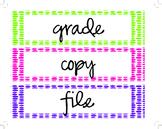 Various Classroom Labels