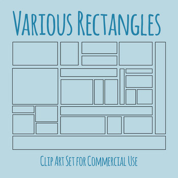 Various Dimension Rectangles for Perimeter / Area Work Clip Art Commercial Use