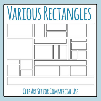 Various Dimension Rectangles for Perimeter / Area Work Cli