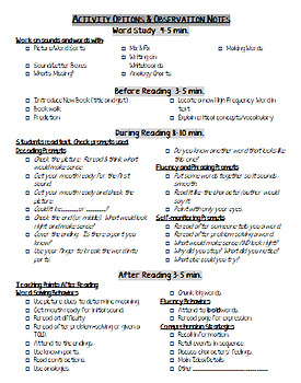 Various Guided Reading Lesson Plan Templates