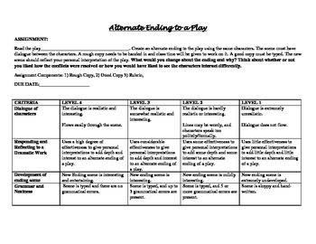 Various Intermediate Drama Assignments