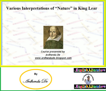 "Various Interpretations of ""Nature"" in William Shakespeare"