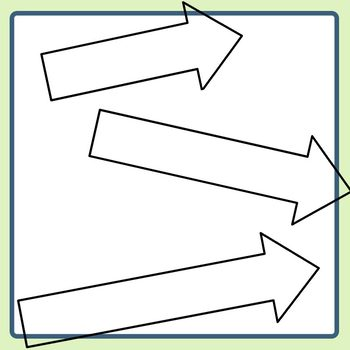 Various Lengths Arrow / Directions Templates Clip Art Set Commercial Use