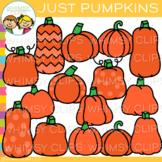 Various Pumpkins Clip Art {Whimsy Clips Fall Clip Art}
