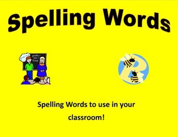 Various Spelling lists