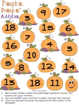 Various Themed BUMP for Addition with 3 addends