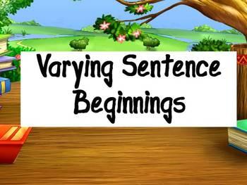 Varying Sentence Beginnings- Instructional Resources & Partner Activity