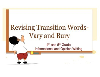 Varying and Burying Transition Words