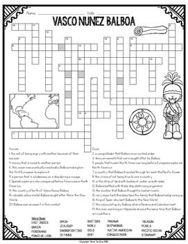 Vasco Nunez Balboa Crossword