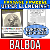 Vasco Nunez De Balboa Reading Passage: Biography: Comprehension Crossword