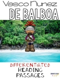 Vasco Nunez De Balboa {Differentiated Close Reading Passages & Questions}
