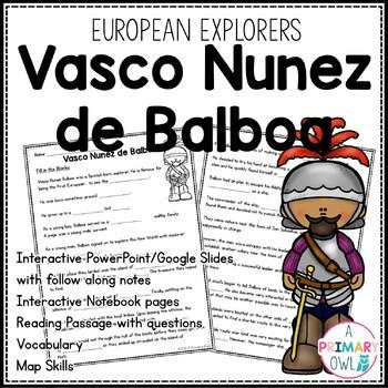 Vasco Nunez de Balboa: 3rd grade Interactive PowerPoint