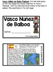 Vasco Nunez de Balboa Flipbook (Interactive Notebooks)